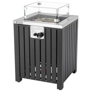 tepro Gasfeuerstelle »Topeka«, L 50 x B 50 x H 62 cm, Glasschutz, aus Stahl