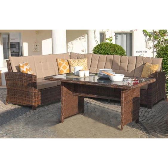 Terassen-Lounge Set CHIARA Braun-MTLS05