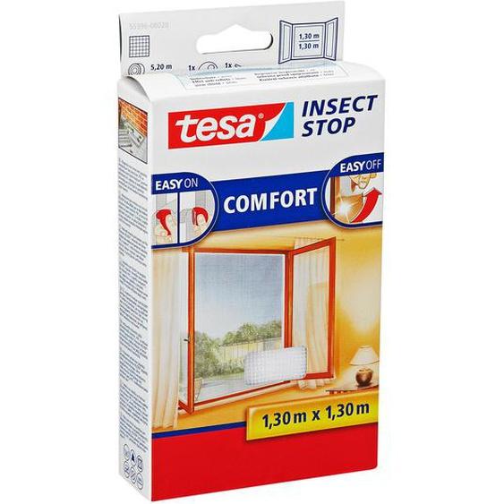 tesa Insect Stop Comfort Fensterfliegengitter weiß 130 x 130 cm
