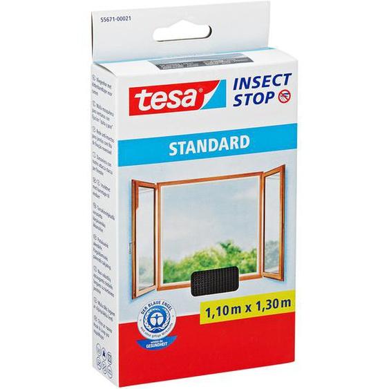 tesa Insect Stop Standard Fensterfliegengitter anthrazit 130 x 110 cm