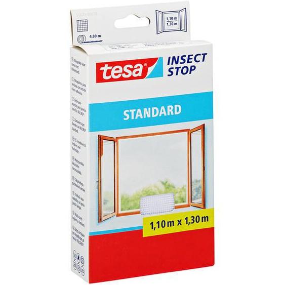 tesa Insect Stop Standard Fensterfliegengitter weiß 130 x 110 cm