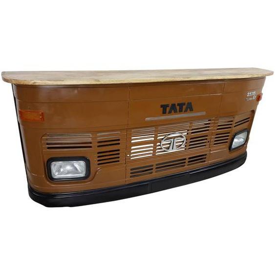 Theke Empfangstresen LKW Bar Tresen Tata groß braun Vintage Design Empfangsth...