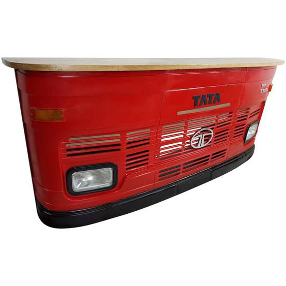Theke Empfangstresen LKW Bar Tresen Tata groß rot Vintage Design Empfangsthek...