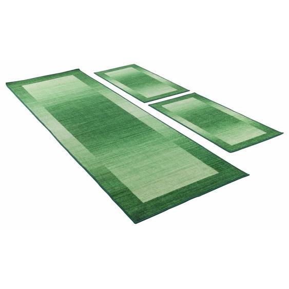 THEKO Bettumrandung Gabbeh Ideal, Bettvorleger, Läufer-Set für das Schlafzimmer, mit Bordüre B/L (Brücke): 67 cm x 140 (2 St.) (Läufer): 270 (1 St.), U-förmig beige Bettumrandungen Läufer Teppiche