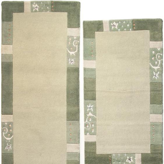 THEKO Bettumrandung Royal Ganges, Bettvorleger, Läufer-Set für das Schlafzimmer, mit Bordüre B/L (Brücke): 70 cm x 140 (2 St.) (Läufer): 340 (1 St.), rechteckig grün Bettumrandungen Läufer Teppiche