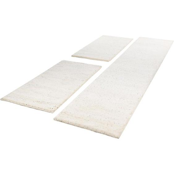 THEKO Bettumrandung Taza Royal, Bettvorleger, Läufer-Set für das Schlafzimmer, echter Berber, reine Schurwolle, handgeknüpft B/L (Brücke): 70 cm x 140 (2 St.) (Läufer): 340 (1 St.), rechteckig beige Bettumrandungen Läufer Teppiche