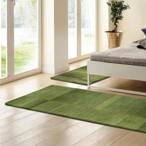 Theko Exklusiv Bettumrandung »Jorun«, 2x rücke 140x70 cm & 1x Läufer 320x70 cm, 14 mm Gesamthöhe, grün