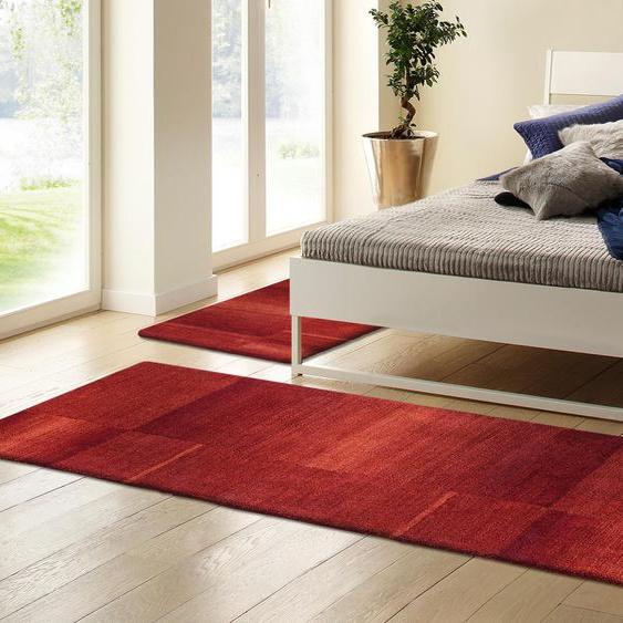 Theko Exklusiv Bettumrandung Jorun, von Hand gearbeitet B/L (Brücke): 70 cm x 140 (2 St.) (Läufer): 320 (1 St.), rechteckig rot Bettumrandungen Läufer Teppiche