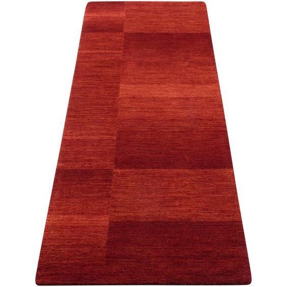 Theko Exklusiv Läufer Jorun, rechteckig, 14 mm Höhe, von Hand gearbeitet B/L: 70 cm x 240 cm, 1 St. rot Teppichläufer Bettumrandungen Teppiche