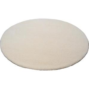 Theko® Wollteppich »Amravati«, 41 (Ø 250 cm), 28 mm Gesamthöhe, weiß