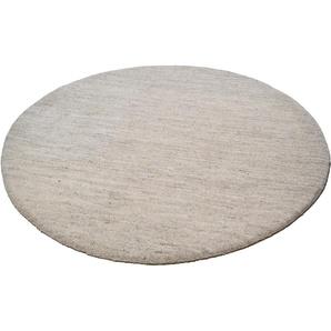 Theko® Wollteppich »Amravati«, 9 (Ø 150 cm), 28 mm Gesamthöhe, beige