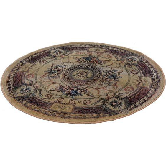 THEKO Teppich Gabiro 856, rund, 12 mm Höhe, Orient-Optik, Wohnzimmer Ø 150 cm, 1 St. beige Esszimmerteppiche Teppiche nach Räumen