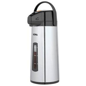 THERMOS® Isolierkanne PumpPot silber