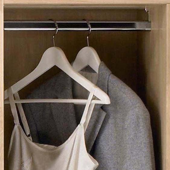 THIELEMEYER Kleiderstange Mira B: 47,6 cm silberfarben Zubehör für Kleiderschränke Möbel Kleiderstangen
