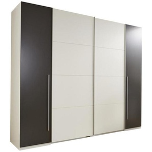 Carryhome: Kleiderschrank, Holzwerkstoff, Grau, Weiß, B/H/T 270 225 61