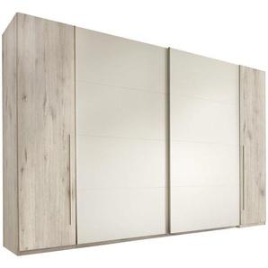 Carryhome: Kleiderschrank, Holzwerkstoff, Weiß, Eiche, B/H/T 315 225 61