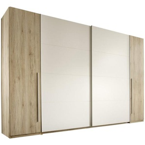 Carryhome: Kleiderschrank, Holzwerkstoff, Braun, Weiß, B/H/T 315 225 61