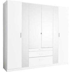 Ti`me: Kleiderschrank, Holzwerkstoff, Weiß, B/H/T 226 210 54