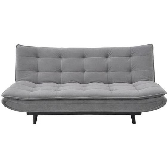 Ti`me Schlafsofa Mikrofaser Grau , Metall, Textil , 3-Sitzer , 194x90x100 cm
