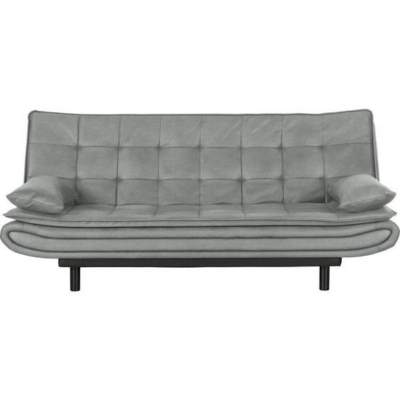 Ti`me Schlafsofa Samt Grün , Textil , 2-Sitzer , 194x84x100 cm