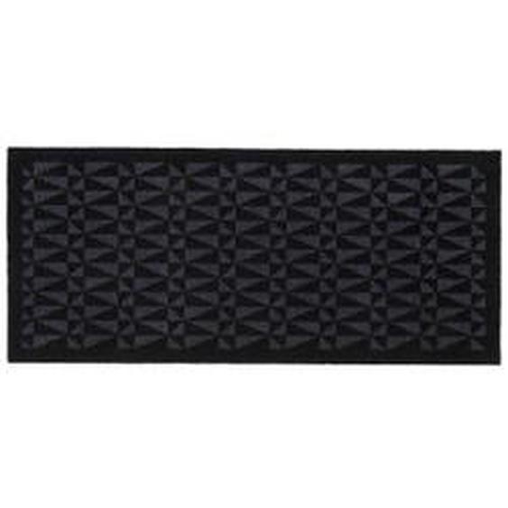tica copenhagen - Graphic Fußmatte, 67 x 150 cm, schwarz / grau