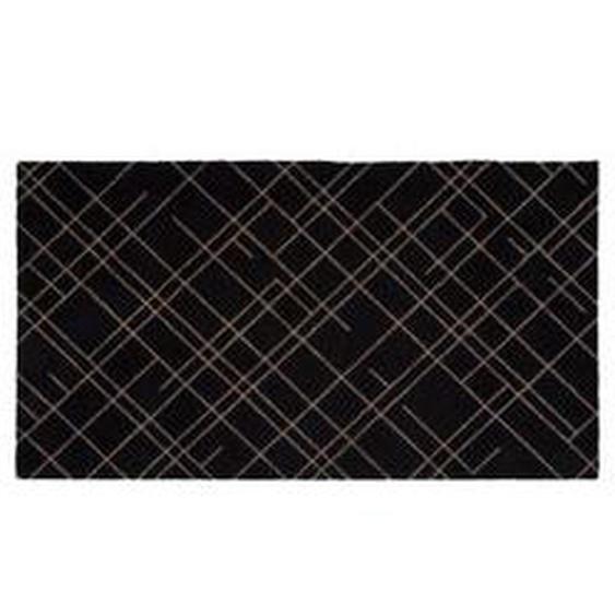 tica copenhagen - Lines Fußmatte, 67 x 120 cm, sand / schwarz