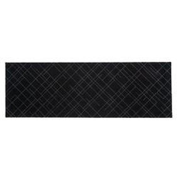 tica copenhagen - Lines Fußmatte, 67 x 200 cm, schwarz / grau