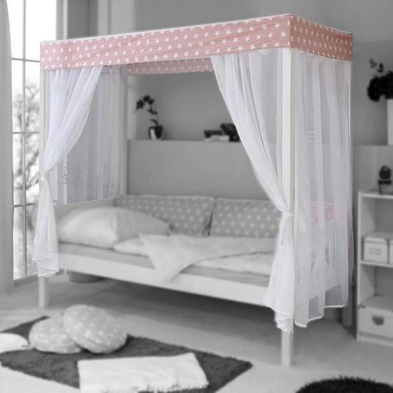 Ticaa Betthimmel Lino Einheitsgröße rosa Baby Babybettausstattung Babymöbel