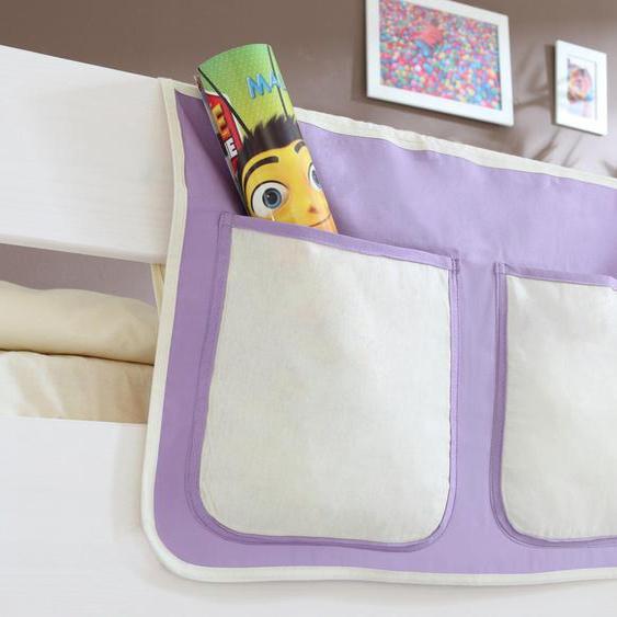 Ticaa Betttasche 56 x 32 cm, 56x32 cm lila Kinder Kinderzimmerdekoration Kindermöbel Taschen