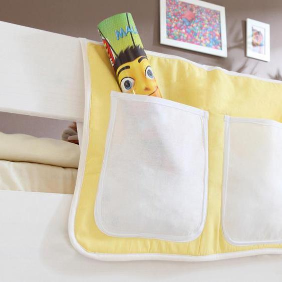 Ticaa Betttasche 56 x 32 cm, 56x32 cm gelb Kinder Kinderzimmerdekoration Kindermöbel Taschen