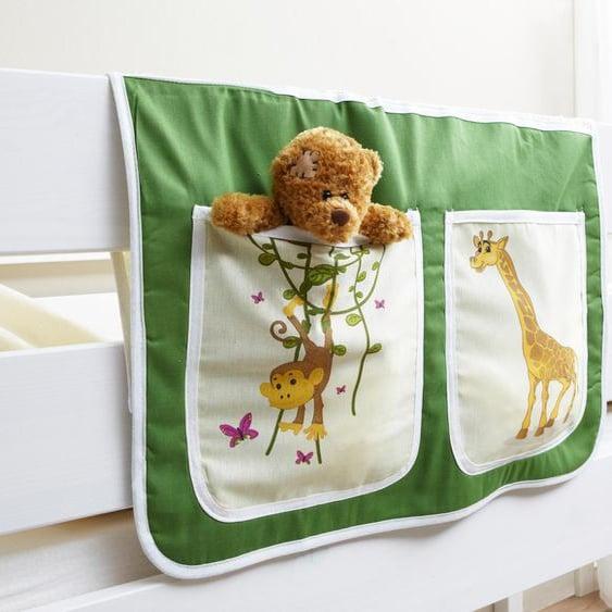 Ticaa Betttasche 56 x 32 cm, 56x32 cm grün Kinder Kinderzimmerdekoration Kindermöbel Taschen