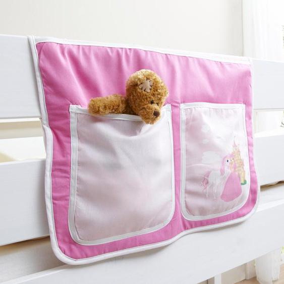 Ticaa Betttasche 56 x 32 cm, 56x32 cm rosa Kinder Kinderzimmerdekoration Kindermöbel Taschen