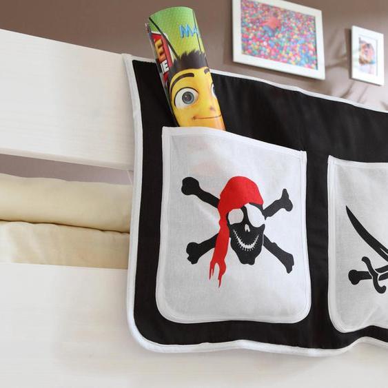 Ticaa Betttasche 56 x 32 cm, 56x32 cm schwarz Kinder Kinderzimmerdekoration Kindermöbel Taschen