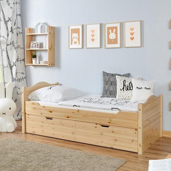 Ticaa Daybett Leni, mit 2 Schubkästen Liegefläche B/L: 90 cm x 200 cm, Gewicht, ohne Matratze beige Kinder Kinderbetten Kindermöbel