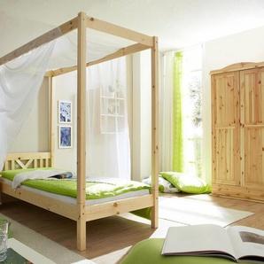 Ticaa Himmel-Bett »LaLuna«, Liegefläche 90/200 cm, beige