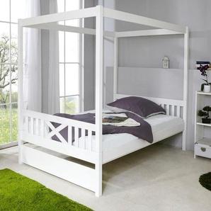 Ticaa Himmel-Bett »Lino«, 140x200 cm, weiß