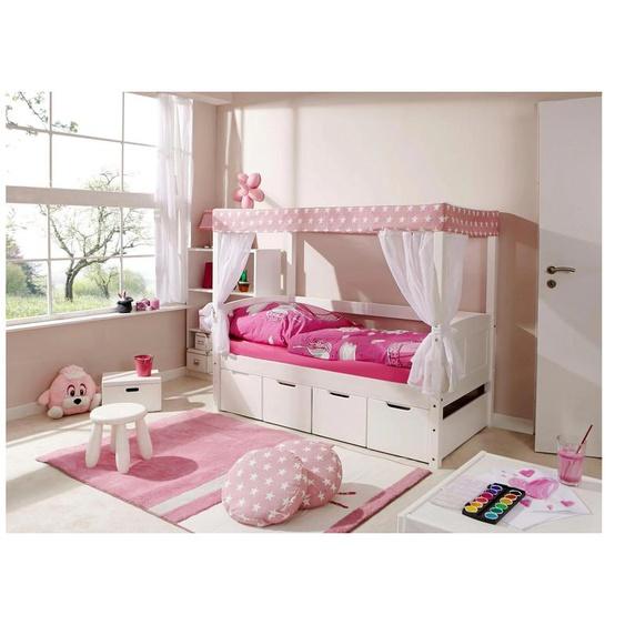 Ticaa Himmelbett Lino 80x160 cm rosa Kinder Kinderbetten Kindermöbel Betten