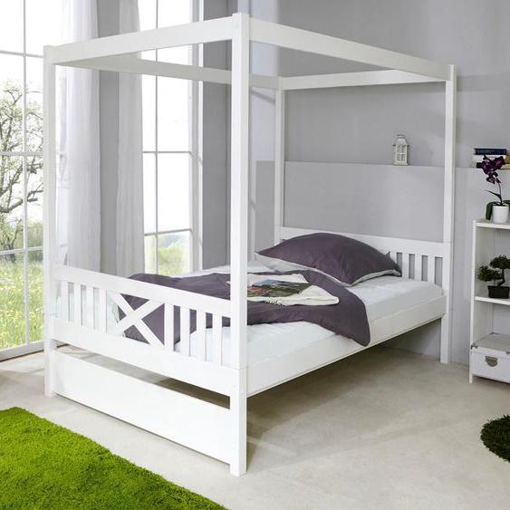 Ticaa Himmelbett Lino, in diversen Breiten, Kiefer Liegefläche B/L: 140 cm x 200 cm, Gewicht weiß Himmelbetten Zubehör Betten