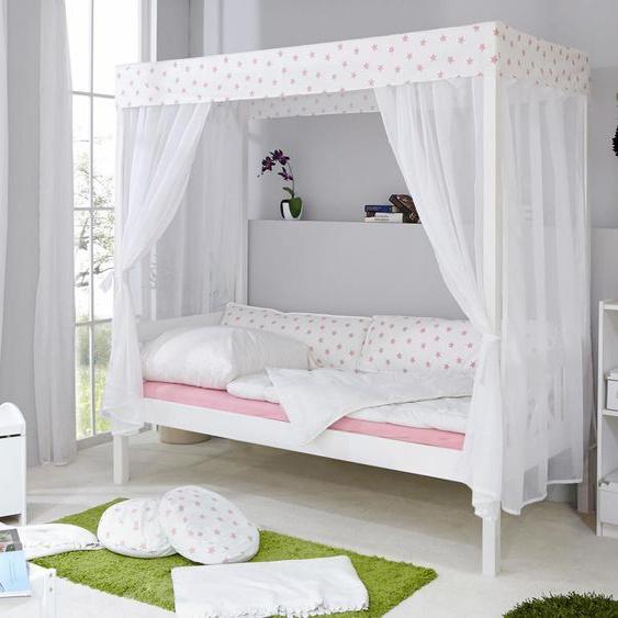Ticaa Himmelbett Lino, in diversen Breiten, Kiefer Liegefläche B/L: 90 cm x 200 cm, Gewicht weiß Himmelbetten Zubehör Betten