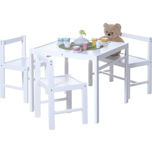 TICAA Kinder Tischgruppe 4-teilig Weiß