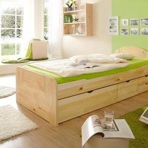 Bett »Erna«, beige, 100x200cm, FSC-Zertifikat, , , FSC®-zertifiziert, Ticaa