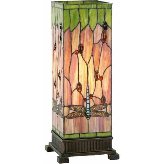 Tiffany Stehlampe Libelle Glas 18x45 Cm