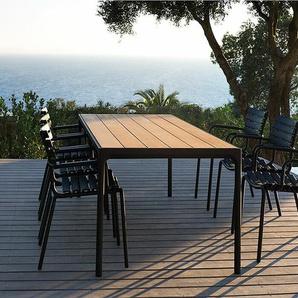 Tisch Four Houe schwarz, Designer Henrik Pedersen, 75x210x90 cm