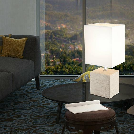 Tisch Leuchte Schlaf Zimmer Schalter Beleuchtung Keramik Stoff Nacht