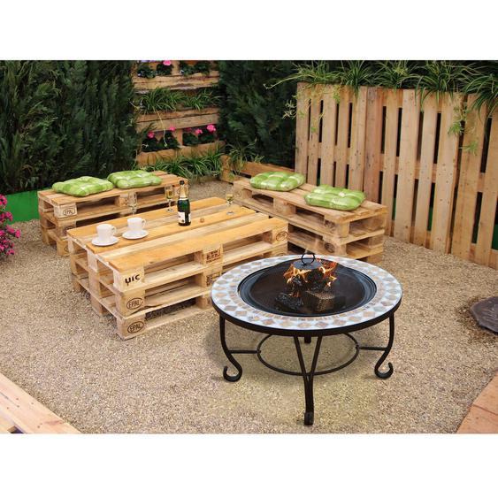 Tisch mit Feuerstelle Gavinton aus Stein/Stahl