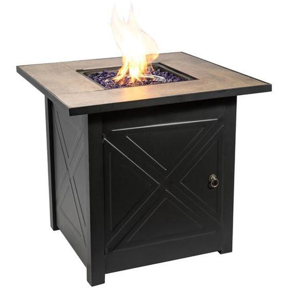 Tisch mit Feuerstelle Virgina aus Stahl