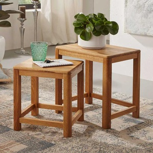 Tisch Set aus Wildeiche Massivholz geölt (2-teilig)