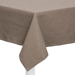 TISCHDECKE Textil Jacquard Taupe 160/260 cm: TISCHDECKE Textil Jacquard Taupe 160/260 cm