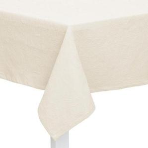 TISCHDECKE Textil Jacquard Weiß 135/170 cm: TISCHDECKE Textil Jacquard Weiß 135/170 cm