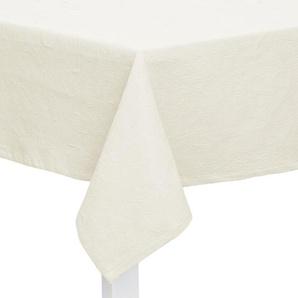 TISCHDECKE Textil Jacquard Weiß 135/220 cm: TISCHDECKE Textil Jacquard Weiß 135/220 cm